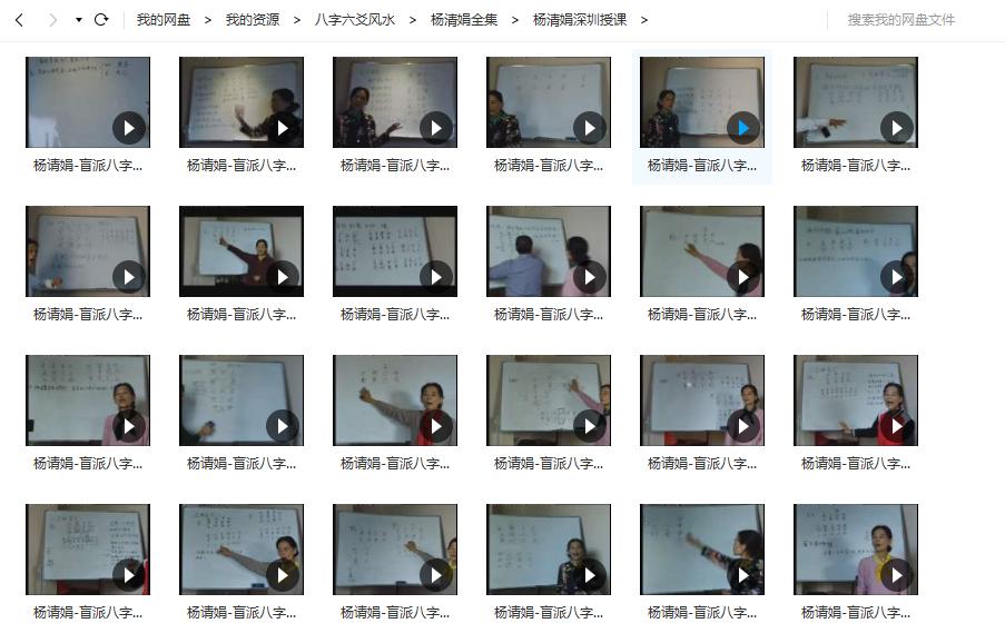 杨清娟,盲派命理,八字视频,培训班,讲座,下载