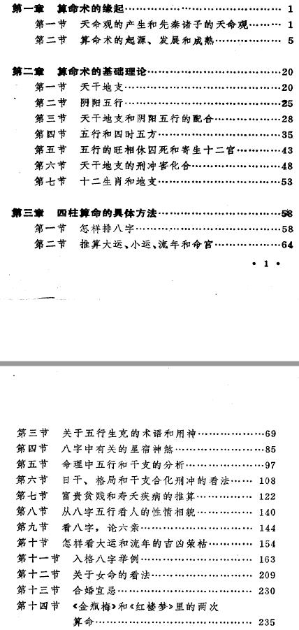 《中国古代算命术》目录
